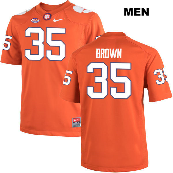 Marcus Brown Nike Clemson Tigers no. 35 Mens Stitched Orange Authentic College Football Jersey - Marcus Brown Jersey