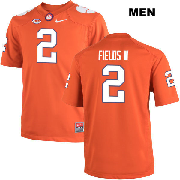 Mark Fields Stitched Clemson Tigers no. 2 Mens Orange Nike Authentic College Football Jersey - Mark Fields Jersey