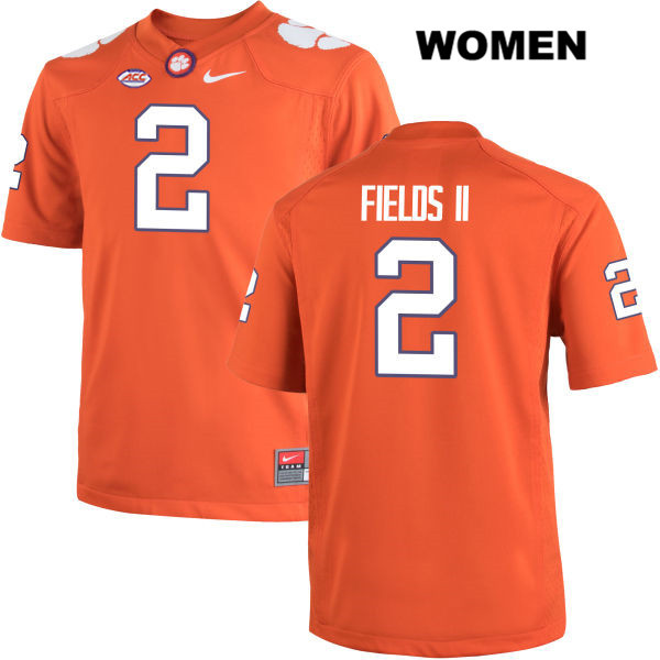 Nike Mark Fields Clemson Tigers no. 2 Womens Orange Stitched Authentic College Football Jersey - Mark Fields Jersey
