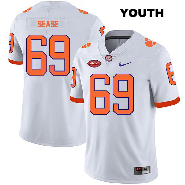 Marquis Sease Stitched Clemson Tigers no. 69 Nike Youth White Legend Authentic College Football Jersey