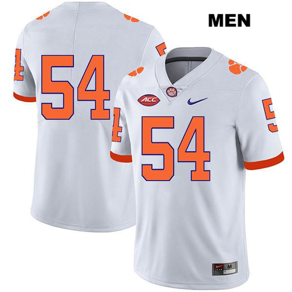Mason Trotter Clemson Tigers Nike no. 54 Mens Stitched White Legend Authentic College Football Jersey - No Name