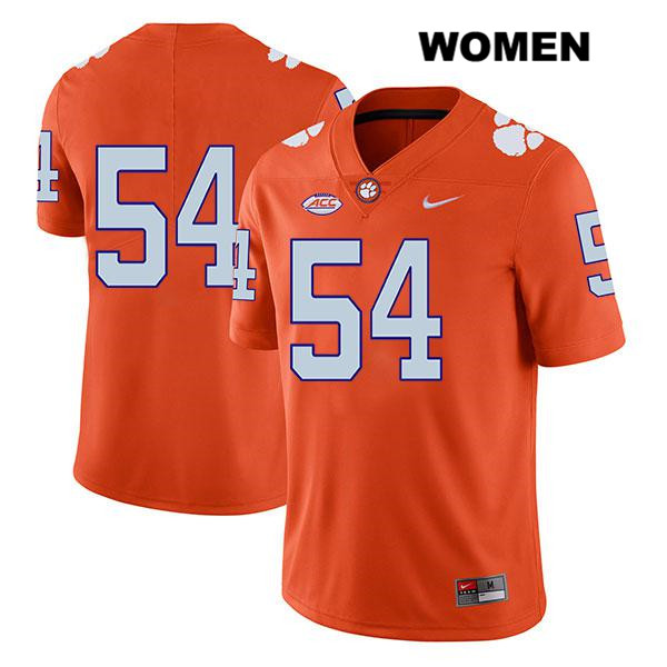 Mason Trotter Nike Clemson Tigers no. 54 Legend Womens Orange Stitched Authentic College Football Jersey - No Name - Mason Trotter Jersey