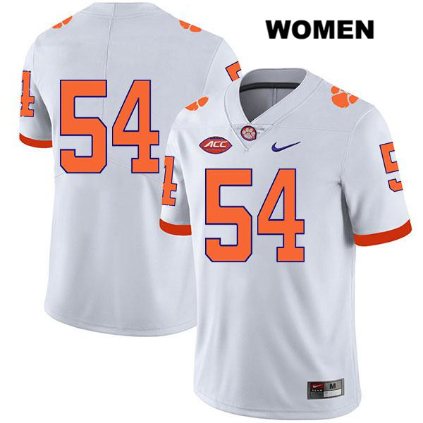 Mason Trotter Nike Clemson Tigers no. 54 Stitched Legend Womens White Authentic College Football Jersey - No Name - Mason Trotter Jersey