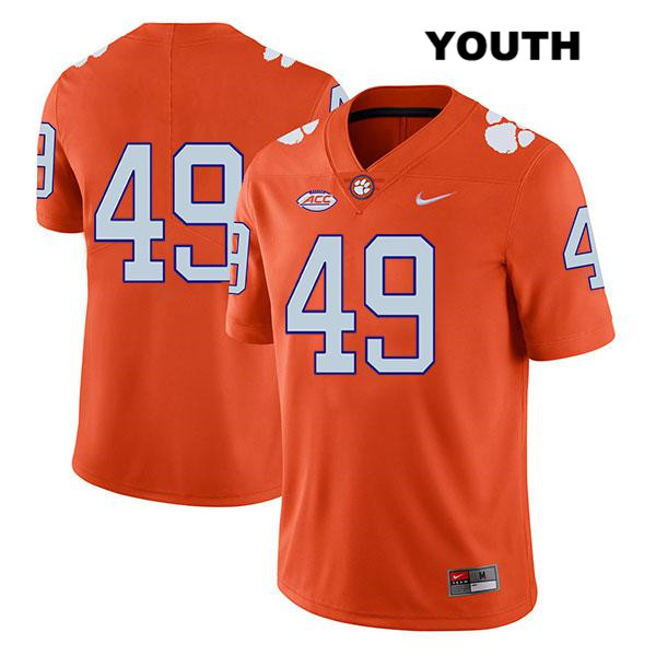 Matthew Maloney Nike Clemson Tigers Stitched no. 49 Youth Orange Legend Authentic College Football Jersey - No Name - Matthew Maloney Jersey