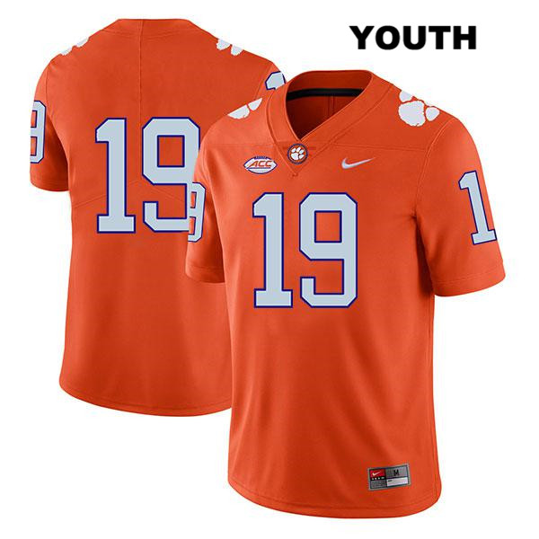 Michel Dukes Clemson Tigers no. 19 Stitched Youth Legend Nike Orange Authentic College Football Jersey - No Name - Michel Dukes Jersey
