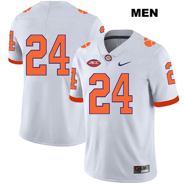 Nolan Turner Stitched Clemson Tigers no. 24 Mens Nike White Legend Authentic College Football Jersey - No Name - Nolan Turner Jersey