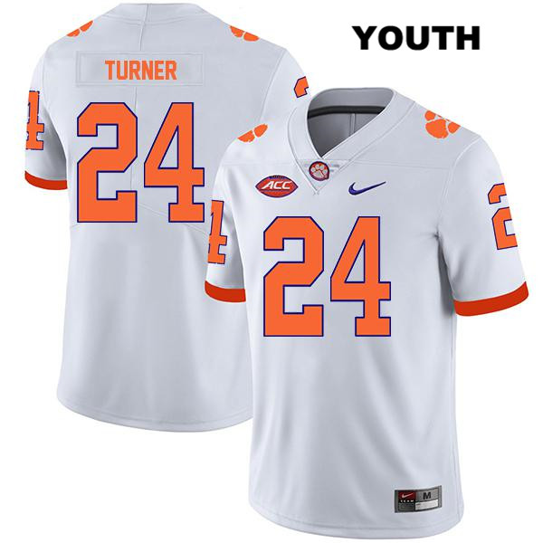 Nolan Turner Clemson Tigers no. 24 Nike Youth Legend White Stitched Authentic College Football Jersey - Nolan Turner Jersey
