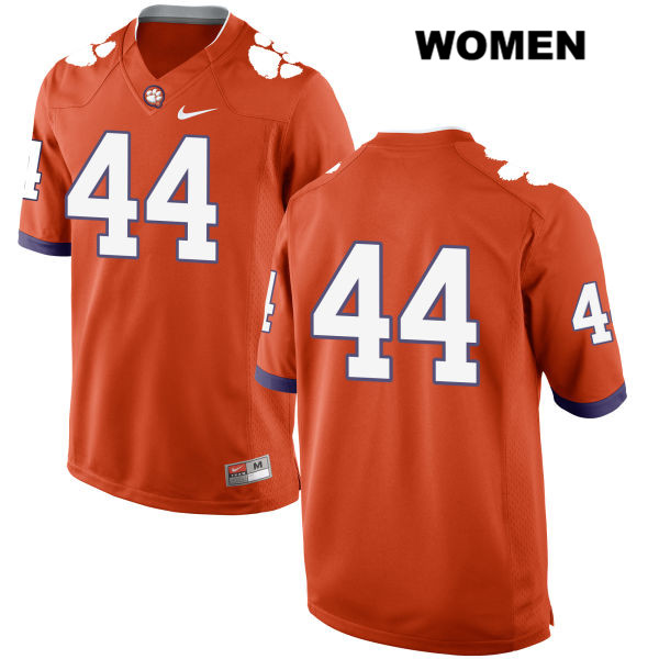Nike Nyles Pinckney Stitched Clemson Tigers no. 44 Womens Orange Authentic College Football Jersey - No Name - Nyles Pinckney Jersey