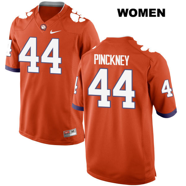 Nyles Pinckney Clemson Tigers no. 44 Stitched Womens Nike Orange Authentic College Football Jersey - Nyles Pinckney Jersey