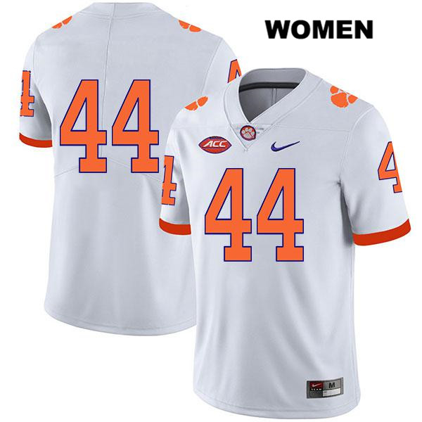 Nyles Pinckney Clemson Tigers Stitched no. 44 Womens Nike White Legend Authentic College Football Jersey - No Name - Nyles Pinckney Jersey