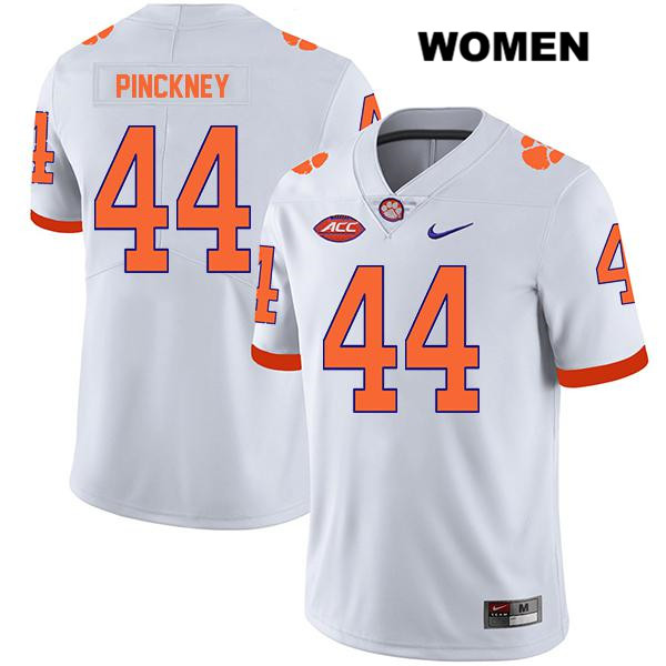 Legend Nyles Pinckney Clemson Tigers no. 44 Stitched Womens Nike White Authentic College Football Jersey - Nyles Pinckney Jersey