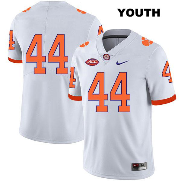 Nyles Pinckney Clemson Tigers no. 44 Youth Legend White Nike Stitched Authentic College Football Jersey - No Name - Nyles Pinckney Jersey