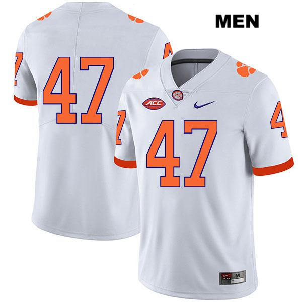 Peter Cote Stitched Nike Clemson Tigers no. 47 Mens Legend White Authentic College Football Jersey - No Name - Peter Cote Jersey