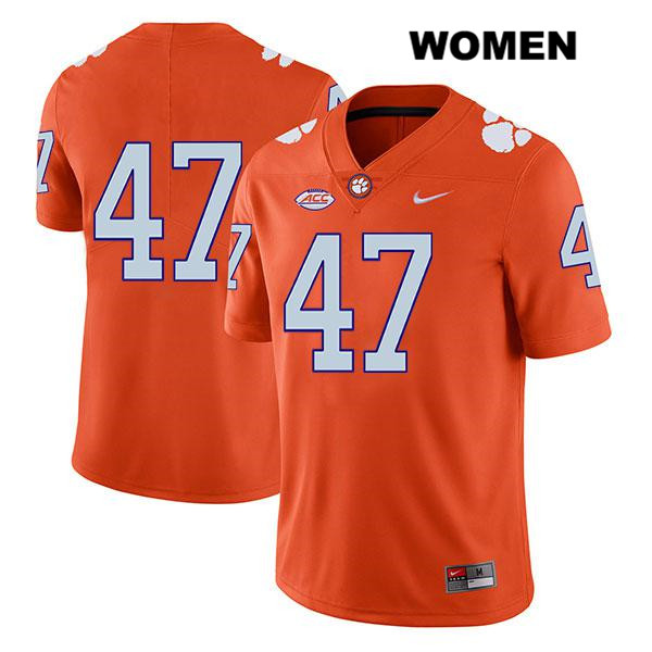 Nike Peter Cote Legend Clemson Tigers Stitched no. 47 Womens Orange Authentic College Football Jersey - No Name - Peter Cote Jersey