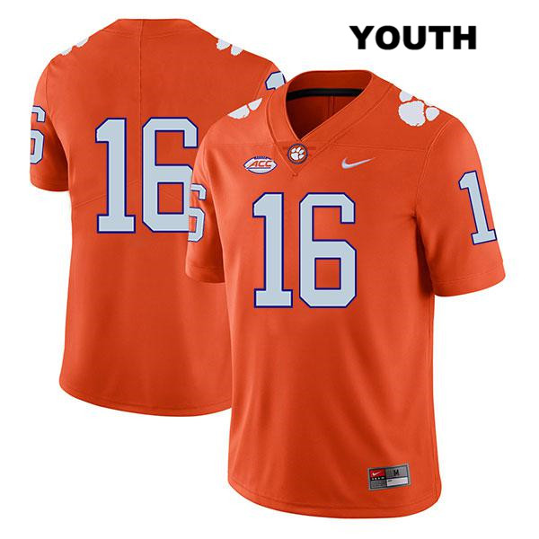 Nike Ray Thornton III Clemson Tigers no. 16 Youth Stitched Orange Legend Authentic College Football Jersey - No Name - Ray Thornton III Jersey