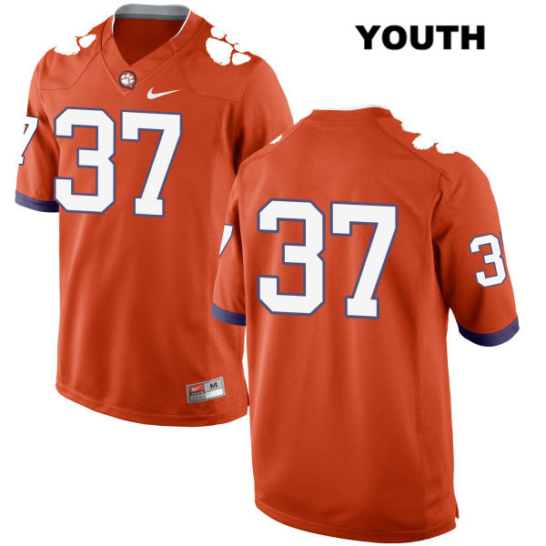 Ryan Mac Lain Stitched Clemson Tigers Nike no. 37 Youth Orange Authentic College Football Jersey - No Name - Ryan Mac Lain Jersey