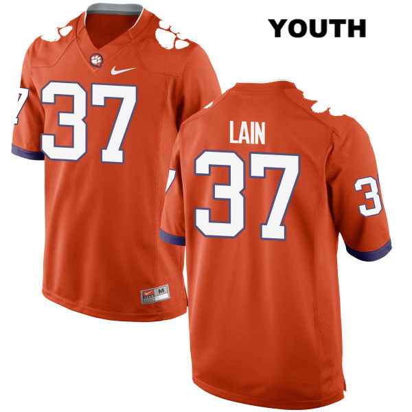 Ryan Mac Lain Clemson Tigers no. 37 Stitched Youth Nike Orange Authentic College Football Jersey - Ryan Mac Lain Jersey