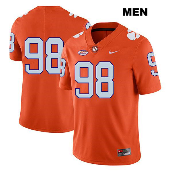 Nike Steven Sawicki Clemson Tigers no. 98 Stitched Mens Orange Legend Authentic College Football Jersey - No Name - Steven Sawicki Jersey