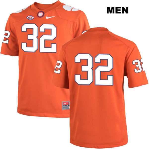 Sylvester Mayers Stitched Nike Clemson Tigers no. 32 Mens Orange Authentic College Football Jersey - No Name - Sylvester Mayers Jersey