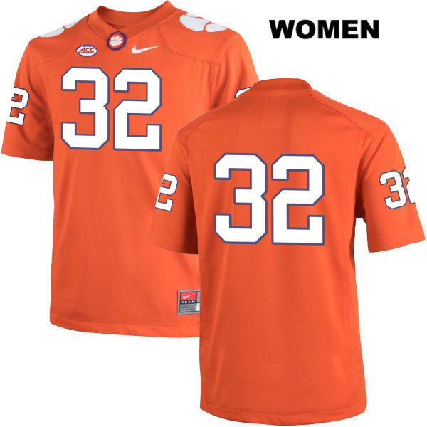 Sylvester Mayers Clemson Tigers no. 32 Womens Nike Orange Stitched Authentic College Football Jersey - No Name - Sylvester Mayers Jersey