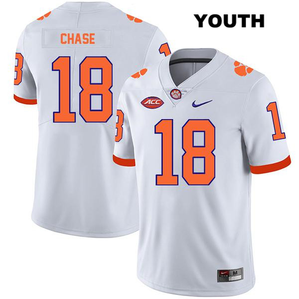 T.J. Chase Clemson Tigers Stitched no. 18 Legend Youth White Nike Authentic College Football Jersey - T.J. Chase Jersey