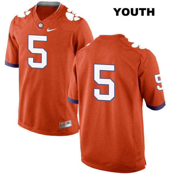 Stitched Tee Higgins Clemson Tigers no. 5 Youth Nike Orange Authentic College Football Jersey - No Name - Tee Higgins Jersey