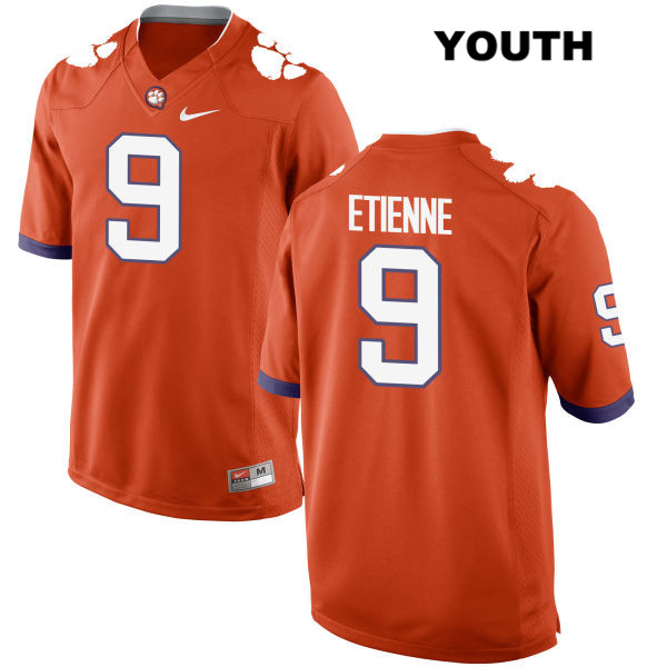 Travis Etienne Clemson Tigers Stitched no. 9 Nike Youth Orange Authentic College Football Jersey - Travis Etienne Jersey