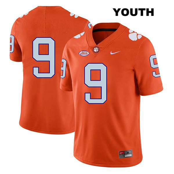 Travis Etienne Clemson Tigers Legend no. 9 Youth Stitched Orange Nike Authentic College Football Jersey - No Name - Travis Etienne Jersey