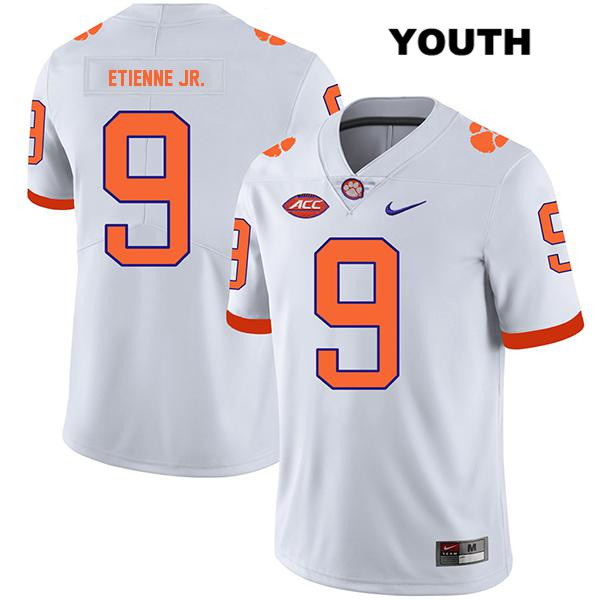 Legend Travis Etienne Clemson Tigers no. 9 Stitched Nike Youth White Authentic College Football Jersey - Travis Etienne Jersey