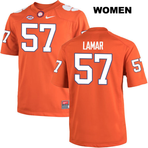 Tre Lamar Clemson Tigers no. 57 Nike Womens Stitched Orange Authentic College Football Jersey - Tre Lamar Jersey