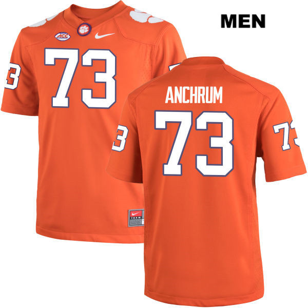 Tremayne Anchrum Clemson Tigers Nike Stitched no. 73 Mens Orange Authentic College Football Jersey - Tremayne Anchrum Jersey