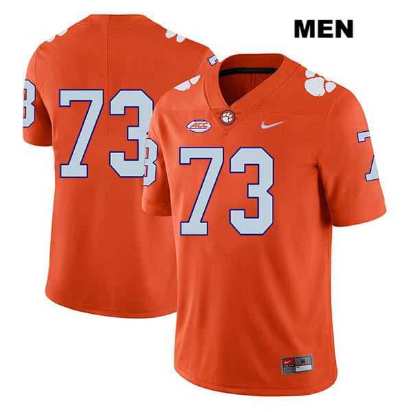 Tremayne Anchrum Clemson Tigers Nike Legend no. 73 Stitched Mens Orange Authentic College Football Jersey - No Name - Tremayne Anchrum Jersey