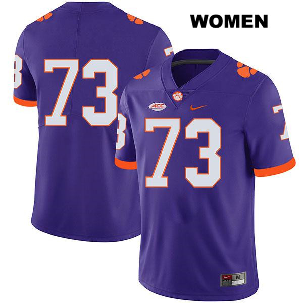 Nike Tremayne Anchrum Clemson Tigers no. 73 Stitched Womens Purple Legend Authentic College Football Jersey - No Name - Tremayne Anchrum Jersey