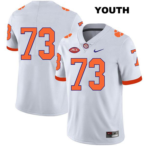 Stitched Tremayne Anchrum Clemson Tigers no. 73 Legend Youth White Nike Authentic College Football Jersey - No Name - Tremayne Anchrum Jersey