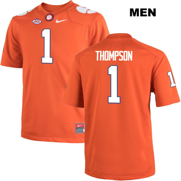 Trevion Thompson Clemson Tigers no. 1 Nike Mens Stitched Orange Authentic College Football Jersey - Trevion Thompson Jersey