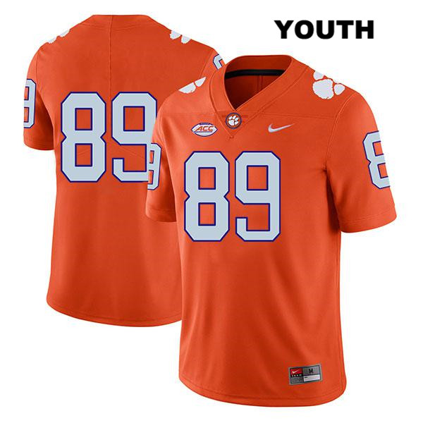 Tristan Walliser Clemson Tigers Nike no. 89 Stitched Youth Legend Orange Authentic College Football Jersey - No Name - Tristan Walliser Jersey