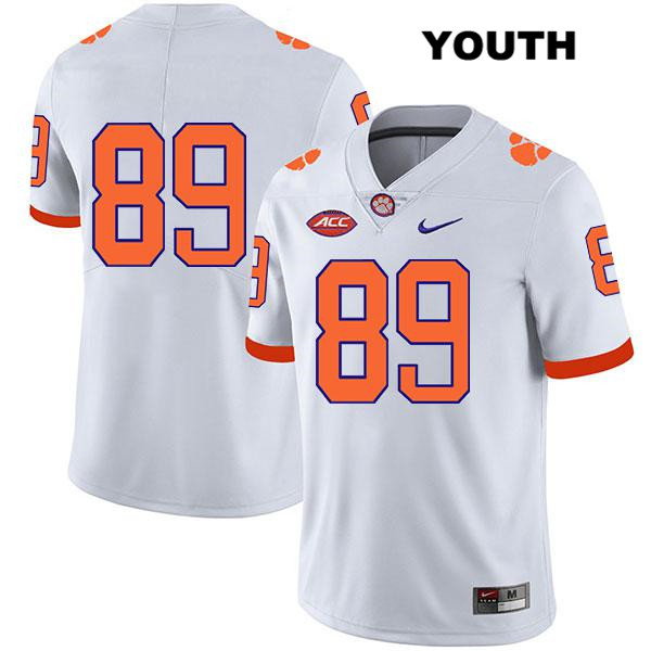 Tristan Walliser Legend Clemson Tigers no. 89 Nike Youth White Stitched Authentic College Football Jersey - No Name - Tristan Walliser Jersey