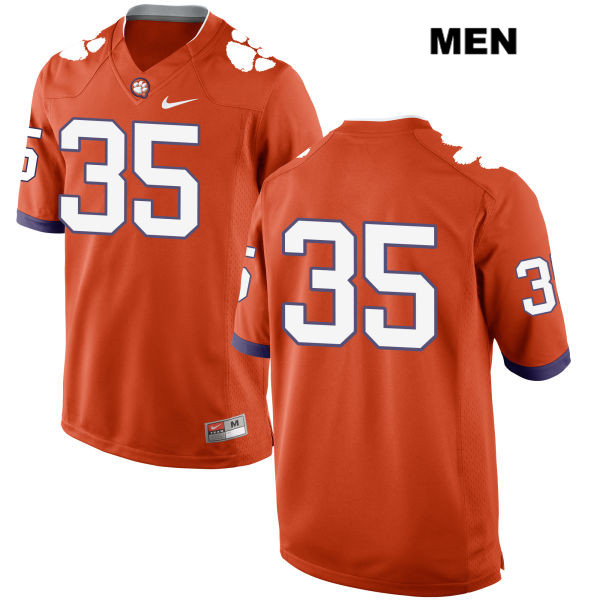 Ty Thomason Nike Clemson Tigers no. 35 Stitched Mens Orange Authentic College Football Jersey - No Name - Ty Thomason Jersey