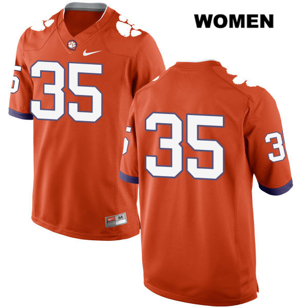 Ty Thomason Clemson Tigers no. 35 Womens Orange Nike Stitched Authentic College Football Jersey - No Name - Ty Thomason Jersey