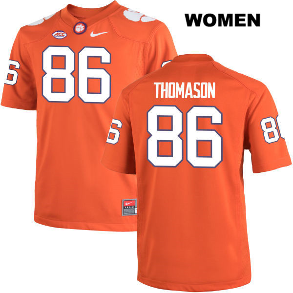 Ty Thomason Stitched Nike Clemson Tigers no. 86 Womens Orange Authentic College Football Jersey - Ty Thomason Jersey