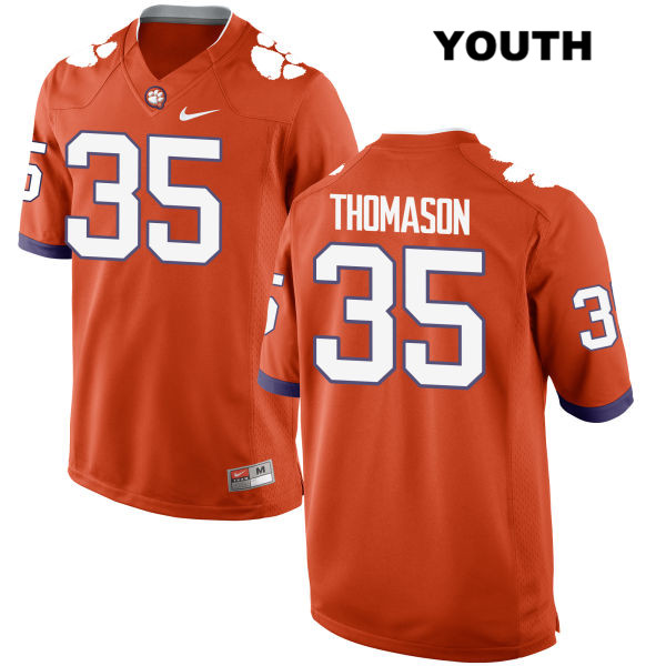 Ty Thomason Nike Clemson Tigers no. 35 Stitched Youth Orange Authentic College Football Jersey - Ty Thomason Jersey