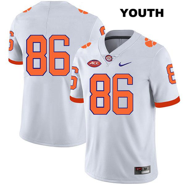 Tye Herbstreit Legend Clemson Tigers Nike no. 86 Youth White Stitched Authentic College Football Jersey - No Name - Tye Herbstreit Jersey
