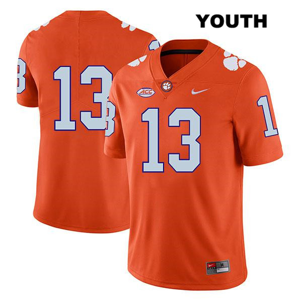 Tyler Davis Legend Nike Clemson Tigers no. 13 Youth Stitched Orange Authentic College Football Jersey - No Name - Tyler Davis Jersey