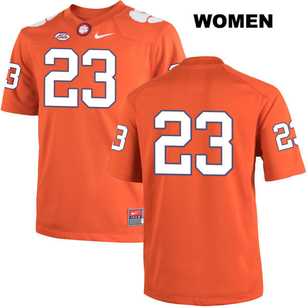 Van Smith Clemson Tigers Stitched no. 23 Womens Nike Orange Authentic College Football Jersey - No Name - Van Smith Jersey