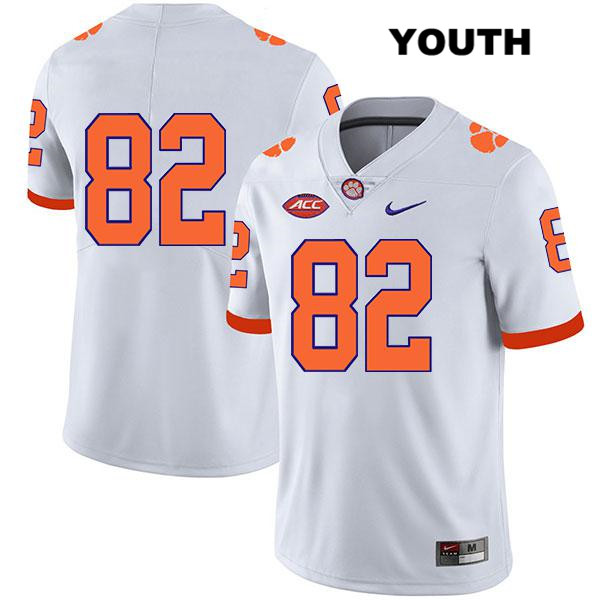 Nike Will Brown Stitched Legend Clemson Tigers no. 82 Youth White Authentic College Football Jersey - No Name - Will Brown Jersey