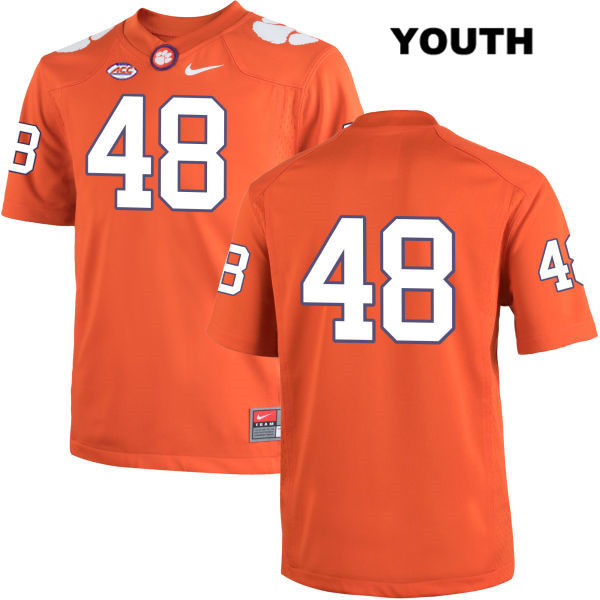 Will Spiers Nike Clemson Tigers Stitched no. 48 Youth Orange Authentic College Football Jersey - No Name - Will Spiers Jersey