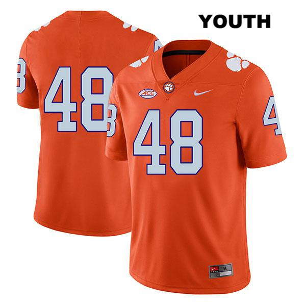 Will Spiers Legend Clemson Tigers Stitched no. 48 Nike Youth Orange Authentic College Football Jersey - No Name - Will Spiers Jersey