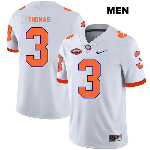 Xavier Thomas Legend Clemson Tigers no. 3 Mens Nike White Stitched Authentic College Football Jersey - Xavier Thomas Jersey