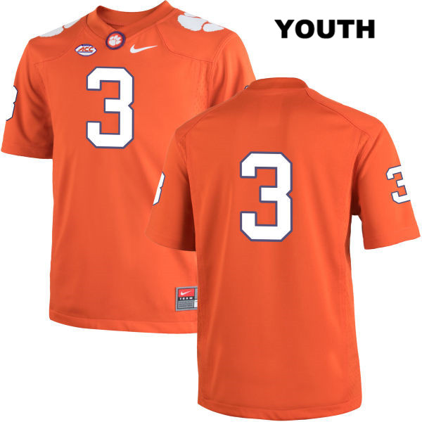 Xavier Thomas Clemson Tigers no. 3 Youth Stitched Orange Nike Authentic College Football Jersey - No Name - Xavier Thomas Jersey