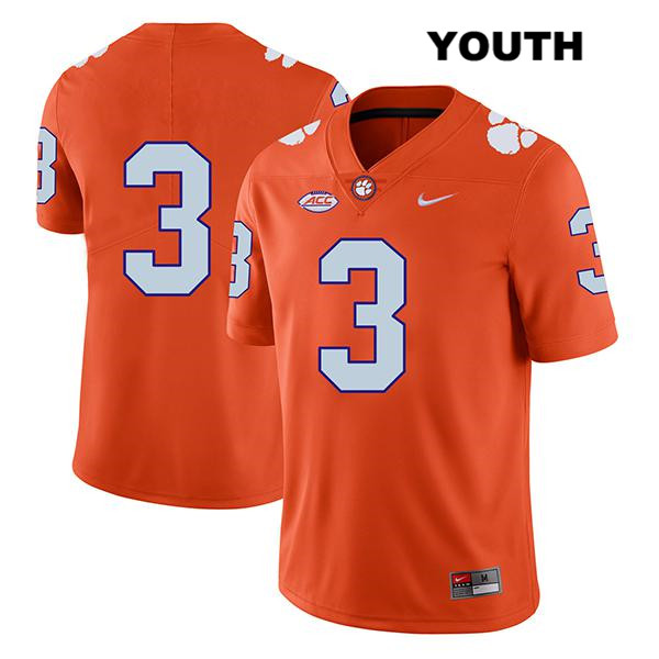 Xavier Thomas Stitched Clemson Tigers Legend no. 3 Youth Orange Nike Authentic College Football Jersey - No Name - Xavier Thomas Jersey
